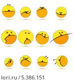 Необычный желтый смайлик. Стоковая иллюстрация, иллюстратор РифХасанов / Фотобанк Лори