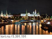 Ночная Москва. Стоковое фото, фотограф Евгений Лосев / Фотобанк Лори