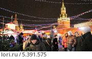 Купить «Новогодняя ярмарка на Красной площади», эксклюзивный видеоролик № 5391575, снято 15 декабря 2013 г. (c) Алёшина Оксана / Фотобанк Лори