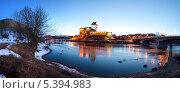 Купить «Вид на Нарвский замок», эксклюзивное фото № 5394983, снято 4 апреля 2012 г. (c) Литвяк Игорь / Фотобанк Лори