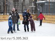 Купить «Москва, зимний каток. Парк имени Баумана», эксклюзивное фото № 5395363, снято 7 декабря 2013 г. (c) Дмитрий Неумоин / Фотобанк Лори