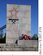 Купить «Шлиссельбург. Памятник железнодорожникам», фото № 5397319, снято 6 июня 2008 г. (c) Корчагина Полина / Фотобанк Лори