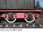 Купить «Шлиссельбург. Памятник паровозу», фото № 5397323, снято 6 июня 2008 г. (c) Корчагина Полина / Фотобанк Лори