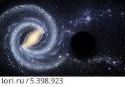 Купить «Черная дыра в космическом пространстве», иллюстрация № 5398923 (c) Наталья Спиридонова / Фотобанк Лори