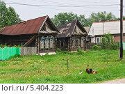 Купить «Брошенные деревенские дома», эксклюзивное фото № 5404223, снято 24 мая 2013 г. (c) Алёшина Оксана / Фотобанк Лори