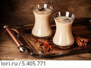 Купить «Горячий чай с молоком и специями», фото № 5405771, снято 14 декабря 2013 г. (c) Лисовская Наталья / Фотобанк Лори