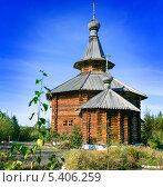 Деревянная церковь на Дальнем Востоке. Стоковое фото, фотограф Александр Носков / Фотобанк Лори