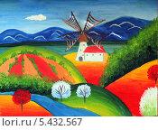 Купить «Загородный пейзаж, художественное масло», иллюстрация № 5432567 (c) Ирина Иванова / Фотобанк Лори