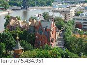 Купить «Вид на Москву с обзорной площадки храма Христа Спасителя», эксклюзивное фото № 5434951, снято 12 июля 2009 г. (c) lana1501 / Фотобанк Лори