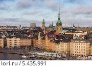 Купить «Швеция. Стокгольм. Вид на старый город со смотровой площадки», эксклюзивное фото № 5435991, снято 23 ноября 2013 г. (c) Литвяк Игорь / Фотобанк Лори