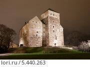 Купить «Ночной вид на Замок Турку, Финляндия», эксклюзивное фото № 5440263, снято 22 ноября 2013 г. (c) Литвяк Игорь / Фотобанк Лори