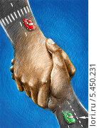Руки-дорога. Стоковая иллюстрация, иллюстратор Марк Назаров / Фотобанк Лори