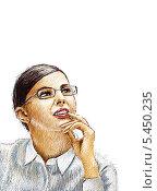 Мечтательная девушка. Стоковая иллюстрация, иллюстратор Марк Назаров / Фотобанк Лори