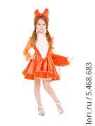 Девочка в карнавальном костюме лисы, фото № 5468683, снято 8 ноября 2013 г. (c) Сергей Сухоруков / Фотобанк Лори