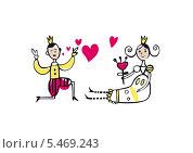 Принц и принцесса. Стоковая иллюстрация, иллюстратор Инна Багаева / Фотобанк Лори