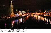 Купить «Центр Москвы ночью», эксклюзивный видеоролик № 5469451, снято 10 января 2014 г. (c) Алёшина Оксана / Фотобанк Лори