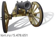 Купить «Старинная пушка», иллюстрация № 5478651 (c) Геннадий Поддубный / Фотобанк Лори