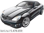 Купить «Чёрный спортивный автомобиль», иллюстрация № 5478659 (c) Геннадий Поддубный / Фотобанк Лори