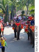 Купить «Катание на слонах. Тропический парк Нонг Нуч (Nong Nooch Tropical Garden), Королевство Таиланд», фото № 5489147, снято 27 декабря 2013 г. (c) Григорий Писоцкий / Фотобанк Лори
