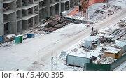 Купить «Рабочие на строительной площадке», видеоролик № 5490395, снято 15 января 2014 г. (c) Кекяляйнен Андрей / Фотобанк Лори