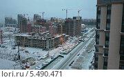 Купить «Вечерняя строительная площадка», видеоролик № 5490471, снято 15 января 2014 г. (c) Кекяляйнен Андрей / Фотобанк Лори