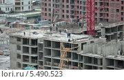 Купить «Рабочие на строительной площадке», видеоролик № 5490523, снято 15 января 2014 г. (c) Кекяляйнен Андрей / Фотобанк Лори