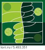 Фон с символами доллара. Стоковая иллюстрация, иллюстратор РифХасанов / Фотобанк Лори