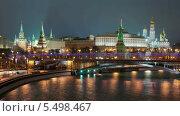 Московский Кремль зимой. Таймлапс со сменой дня и ночи (2014 год). Стоковое видео, видеограф Филипп Яндашевский / Фотобанк Лори
