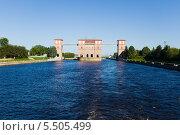 Купить «Шлюз Рыбинского водохранилища на Волге», фото № 5505499, снято 5 июня 2013 г. (c) Igor Lijashkov / Фотобанк Лори