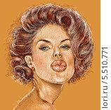 Модель. Стоковая иллюстрация, иллюстратор Марк Назаров / Фотобанк Лори