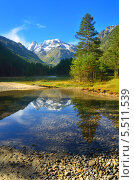 Купить «Долина Узункол. Кавказские горы», фото № 5511539, снято 12 сентября 2013 г. (c) александр жарников / Фотобанк Лори