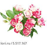 Букет роз на белом фоне. Стоковое фото, фотограф Трофимова Мария / Фотобанк Лори