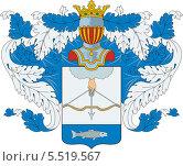 Купить «Герб рода Рындиных», иллюстрация № 5519567 (c) VectorImages / Фотобанк Лори