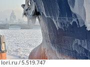 Купить «Набережная Невы в Петербурге. Зима», эксклюзивное фото № 5519747, снято 23 января 2014 г. (c) Александр Алексеев / Фотобанк Лори