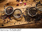 Купить «Чайное ситечко с ароматным чаем», фото № 5524267, снято 21 января 2014 г. (c) Andrejs Pidjass / Фотобанк Лори