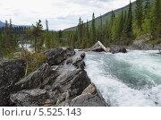 Водопад Lower Ghost на реке Matthew, Канада. Стоковое фото, фотограф Galina Vydryakova / Фотобанк Лори