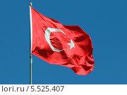 Государственный флаг Турецкой Республики, эксклюзивное фото № 5525407, снято 13 сентября 2013 г. (c) Александр Тарасенков / Фотобанк Лори