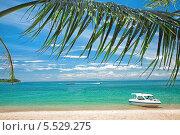 Купить «Катера и песчаный морской пляж», фото № 5529275, снято 4 августа 2012 г. (c) Коваль Василий / Фотобанк Лори