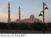 Купить «Центральная мечеть Абдульхасана Эльшази на закате, Хургада, Египет, Африка», эксклюзивное фото № 5532807, снято 28 июля 2013 г. (c) Алексей Гусев / Фотобанк Лори