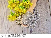 Купить «Травяной чай из корня девясила на ложке сверху», фото № 5536407, снято 20 августа 2013 г. (c) Резеда Костылева / Фотобанк Лори