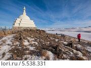 Купить «Буддийская ступа на Байкале», фото № 5538331, снято 3 марта 2013 г. (c) Алексей Стрелюк / Фотобанк Лори