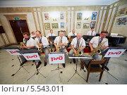 Купить «Джазовый оркестр саксофонистов выступает в Центральном доме культуры железнодорожников», фото № 5543011, снято 3 августа 2012 г. (c) Losevsky Pavel / Фотобанк Лори