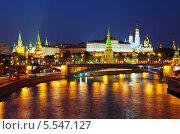 Купить «Московский Кремль летней ночью», фото № 5547127, снято 3 июля 2012 г. (c) Яков Филимонов / Фотобанк Лори