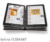 Купить «Газета или журнал из планшетных ПК», иллюстрация № 5554667 (c) Maksym Yemelyanov / Фотобанк Лори