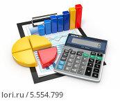 Купить «Бизнес-аналитика. Калькулятор и финансовые отчеты», иллюстрация № 5554799 (c) Maksym Yemelyanov / Фотобанк Лори