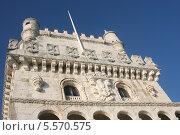 Вид снизу на Башню Белен в Лиссабоне (2012 год). Стоковое фото, фотограф Дмитрий Булатов / Фотобанк Лори