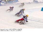 Купить «Мотогонки на льду», фото № 5571047, снято 9 февраля 2014 г. (c) Зюкалин Дмитрий Михайлович / Фотобанк Лори