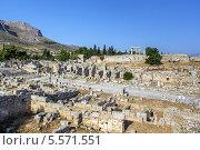 Купить «Руины древнего Коринфа», фото № 5571551, снято 24 июня 2013 г. (c) Boris Breytman / Фотобанк Лори