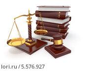 Купить «Концепция справедливости. Стопка книг, весы и молоток», иллюстрация № 5576927 (c) Maksym Yemelyanov / Фотобанк Лори