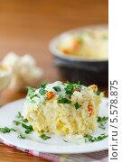 Купить «Рисовая запеканка с цветной капустой», фото № 5578875, снято 12 февраля 2014 г. (c) Peredniankina / Фотобанк Лори